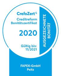 Logo CrefoZert - Bonitätszertifikat